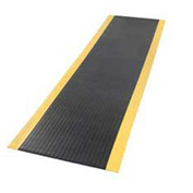 "Pebble Surface 5/8"" Thick Mat Black/Yellow 36""x36"""