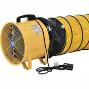 Global Portable Ventilation Fan 16 inch With 32 Feet Flexible Ducting