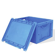 """Schaefer Hinged Lid  Container LTBDH6320.CHBL1 - 24""""L x 16""""W x 13""""H - Blue"""