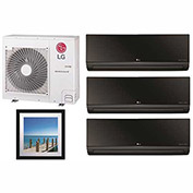 Click to buy LG 36,000 BTU Quad Zone Mini Split System with 3 Art Cool Mirror and 1 Art Cool Gallery Evaporator .