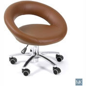 AYC Group Harmony Pedicure Stool, Cappuccino