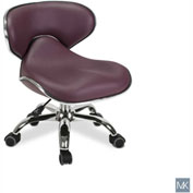 AYC Group Umi Pedicure Stool, Burgundy