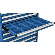 "Dividers for 3""H Drawer of Global™ Modular Drawer Cabinet 36""Wx24""D, Blue"