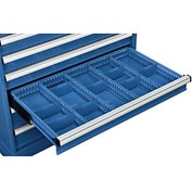 """Dividers for 4""""H Drawer of Global™ Modular Drawer Cabinet 36""""Wx24""""D, Blue"""