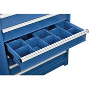 "Dividers for 6""H Drawer of Global™ Modular Drawer Cabinet 36""Wx24""D, Blue"