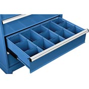 "Dividers for 8""H Drawer of Global™ Modular Drawer Cabinet 36""Wx24""D, Blue"