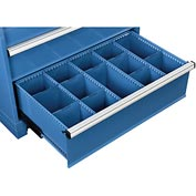 "Dividers for 10""H Drawer of Global™ Modular Drawer Cabinet 36""Wx24""D, Blue"