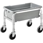 "NSF Aluminum Lug Cart 23""L x 15-1/2""W x 19""H,  1 Tote Capacity, All Welded"