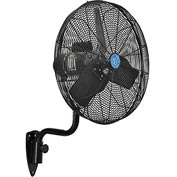 CD Premium 24 Inch Oscillating Wall Mount Fan 1/2 HP TEFC Motor, 9,400 CFM