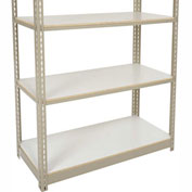 "Heavy Duty Tan Shelving 36""W x 12""D Additional Level, Laminate Deck"