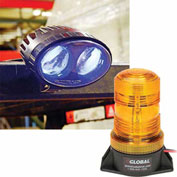 (2) Forklift LED Pedestrian Warning Lights + (1) LED Amber Strobe Light Combo Kit