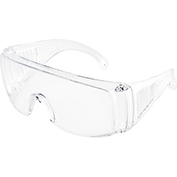 Global Industrial Visitor Safety Glasses, Clear Frame, 1 Each - Pkg Qty 12