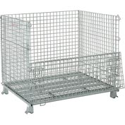 Folding Wire Container 48x40x42-1/2 3000 Lb Capacity