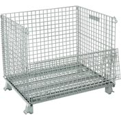 Folding Wire Container 40x32x34-1/2 3000 Lb Capacity
