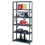 "Edsal - UltraCap 6-Shelf Industrial Shelving UC5117, 48""W x 24""D x 85""H - 750 lb Cap, Gray"