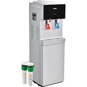 Global Bottleless Water Cooler, Hot & Cold With Filtration, Silver/Black Color Finish
