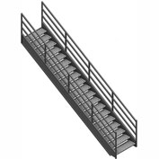 "Staircase 3 Rail 36""W Closed Tread And Riser"