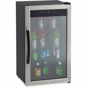 "Avanti Beverage Center, 18.8""W x 19-1/2""D x 33.8""H, Black/Stainless Steel"