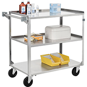 Stainless Steel Utility Cart 27-5/8 x 16-3/4 x 32 500 Lb Cap