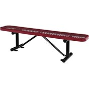 "72""  Expanded Metal Mesh Flat Bench Red"