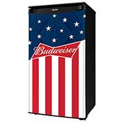 Danby® DAR033A1BBUD2 Compact Refrigerator 3.3 Cu. Ft. Budweiser Stars and Stripes Design