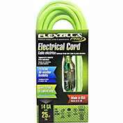 Flexzilla 722-143025FZL5F Pro Extension Cord, 25', 14/3, All-weather, Lighted Plug, ZillaGreen