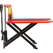 Manual High-Lift Skid Jack Truck 2200 Lb. Capacity 20.5 x 45 Forks