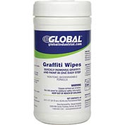Global™ Graffiti Wipes, 40 Wipes/Canister, 6 Canisters/Case