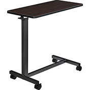 Global™ Overbed Table with H-Base, Walnut Laminate Tabletop