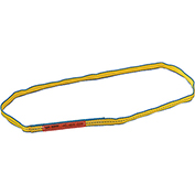 Global Industrial™Poly Web Sling, HD, Endless w/ Durable Edge, 3Ft L-3200/2500/6400 Lbs Cap