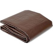 Global™ 8' x 10' Super Heavy Duty 8 oz. Tarp Brown
