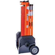 IRONguard RapidRoll™ Portable Barrier Wheeled System, 50' Safety Orange Fencing, 70-7050