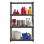 "Hirsh Iron Horse 2300 Heavy Duty 36""W x 18""D x 60""H 4 Shelf Storage Rack in Black"