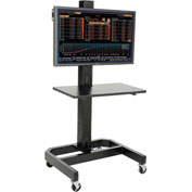LCD/Plasma Mobile Cart with Power Outlet - Black