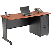 "Office Desk with 2 Drawers - 60"" x 24"" - Cherry"