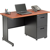 "Office Desk with 2 Drawers - 48"" x 24"" - Cherry"