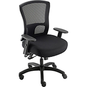 Big and Tall Mesh Back Chair with Asynchronous Tilt - Fabric - Black