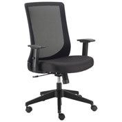 Basic Mesh Back Office Chair - Fabric - Black