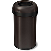 simplehuman® Bullet Open Top Can, 16 Gallon Dark Bronze - CW1475