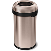 simplehuman® Bullet Open Top Can, 16 Gallon Rose Gold - CW1479