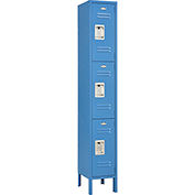 Infinity™ Locker 3 Tier 12 x 15 x 24 3 Door Ready To Assemble Blue