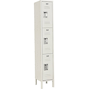 Infinity™ Locker 3 Tier 12 x 15 x 24 3 Door Ready To Assemble Tan