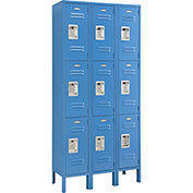 Infinity™ Locker 3 Tier 12 x 15 x 24 9 Door Ready To Assemble Blue