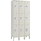 Infinity™ Locker 3 Tier 12 x 15 x 24 9 Door Ready To Assemble Tan