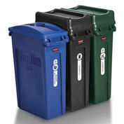 Rubbermaid Slim Jim® 3 Stream Recycling System  - 1998897