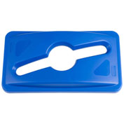 Rubbermaid Slim Jim® Multi Stream Recycling Lid for Slim Jim Containers Blue - 1788372