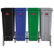 Rubbermaid Slim Jim® Stainless Steel Quadruple Dolly - 1956193