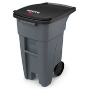Rubbermaid Brute® Rollout Waste Container 32 Gallon Gray - 1971941