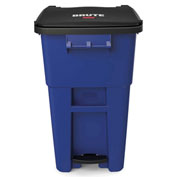 Rubbermaid Brute® Step-On Rollout Waste Container 50 Gallon Blue - 1971958