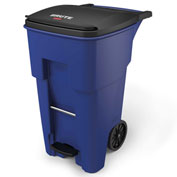 Rubbermaid Brute® Step-On Rollout Waste Container 65 Gallon Blue - 1971970